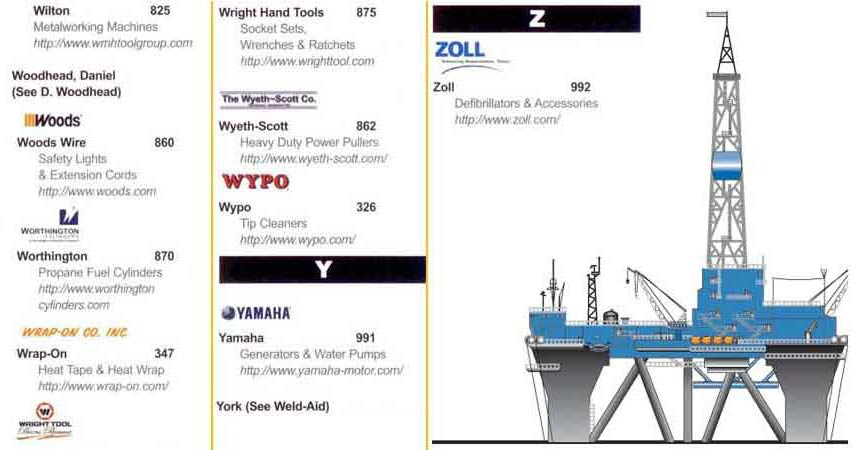Oil Rig Supplies and Equipment